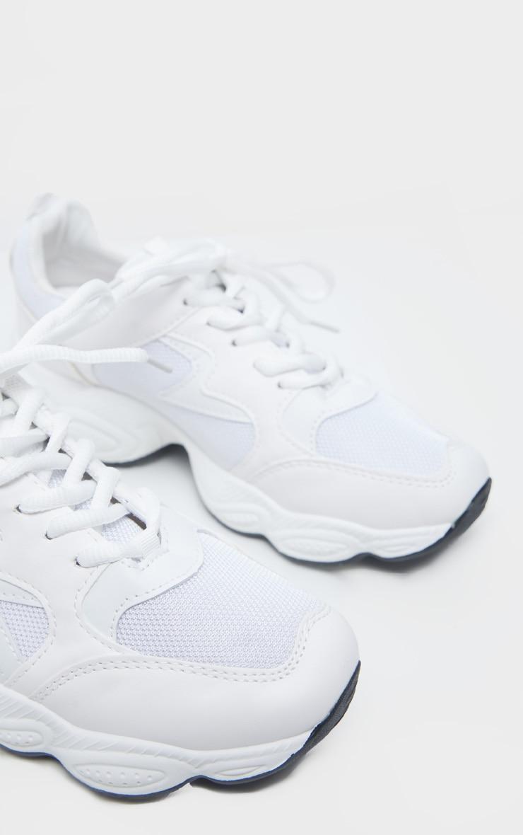 White Basic Chunky Sneakers 5