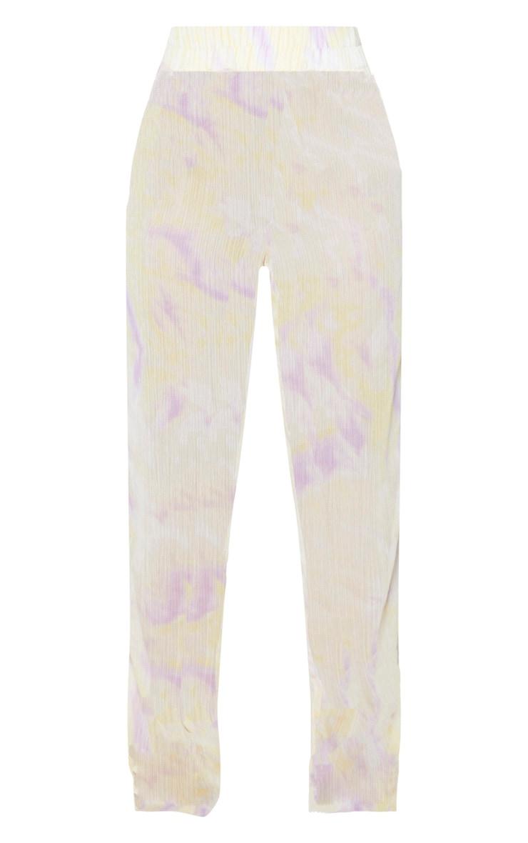 Lilac Tie Dye Wide Leg Beach Trouser 6