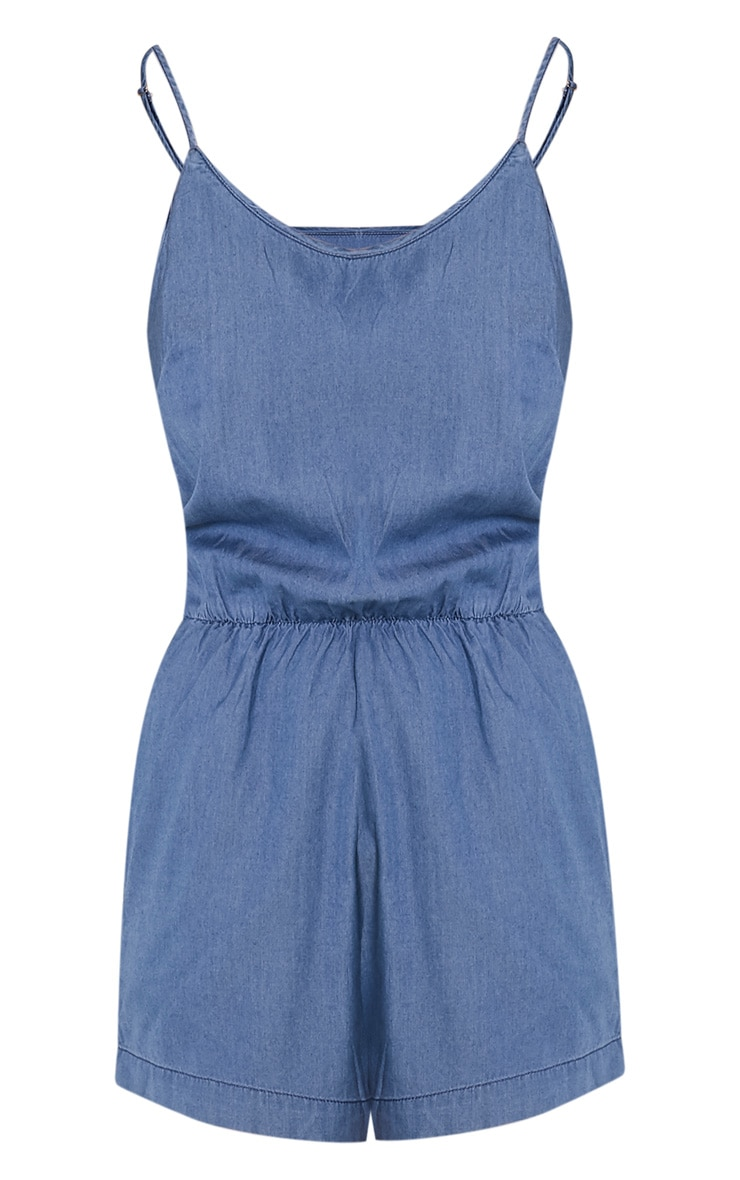Claudia Dark Blue Denim Style Playsuit 3