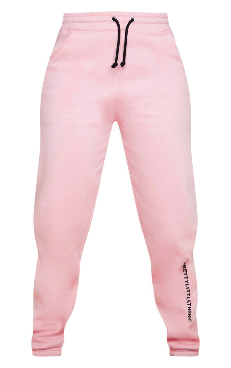 PRETTYLITTLETHING Light Pink High Waisted Jogger 5
