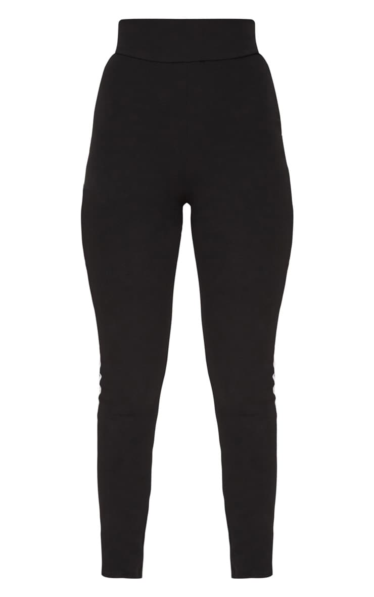 PRETTYLITTLETHING Black Side Tape Leggings 3
