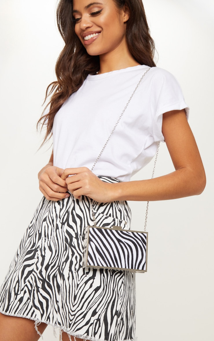 Zebra Square Clutch 1