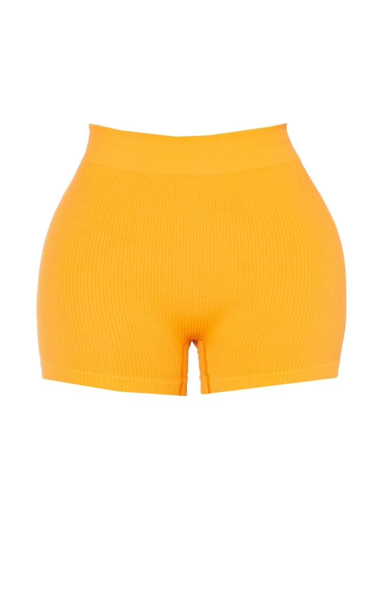 Shape Orange Contour Rib Shorts 6