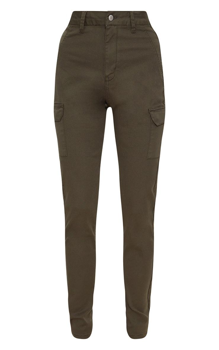 Khaki Pocket Detail Utility Skinny Jean 3