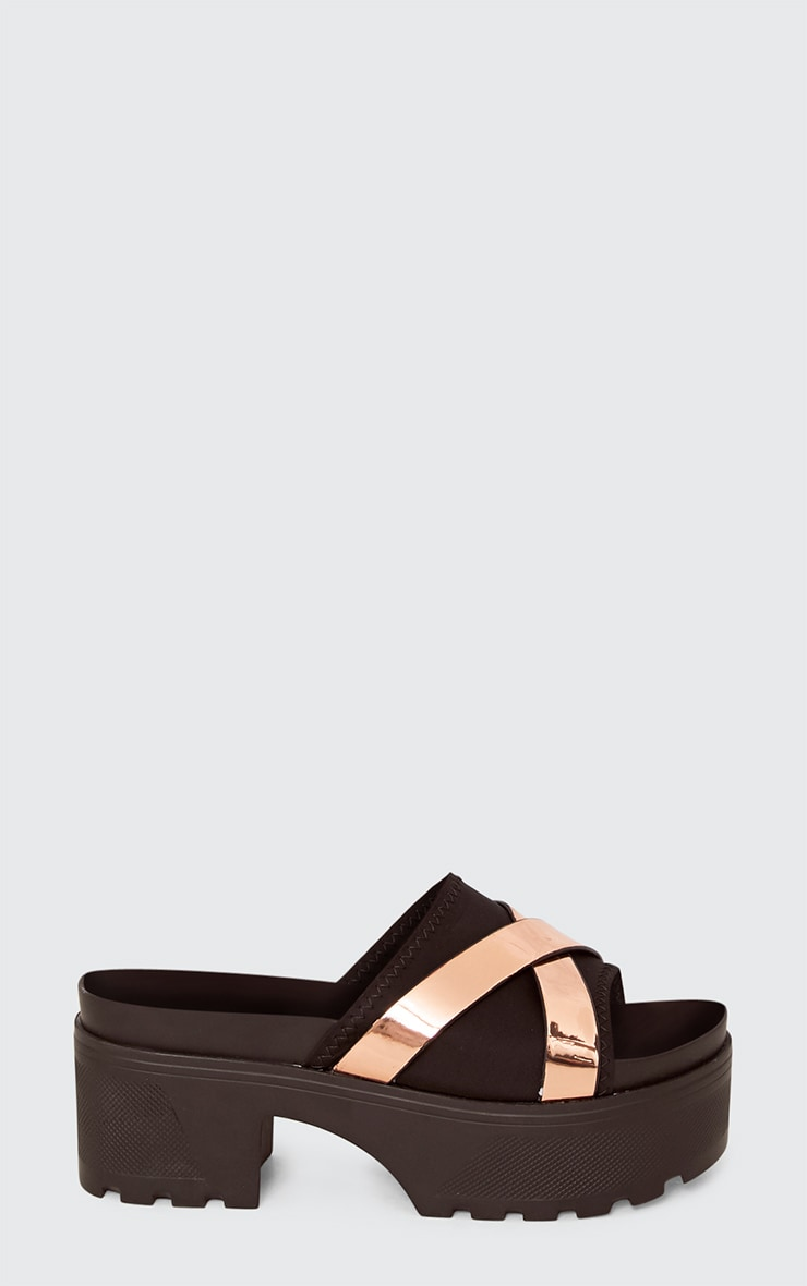 Mary Rose Gold Metallic Strap Flatfrom Sliders 2