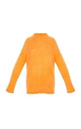 eb4471ee3 Orange Oversized Eyelash Jumper