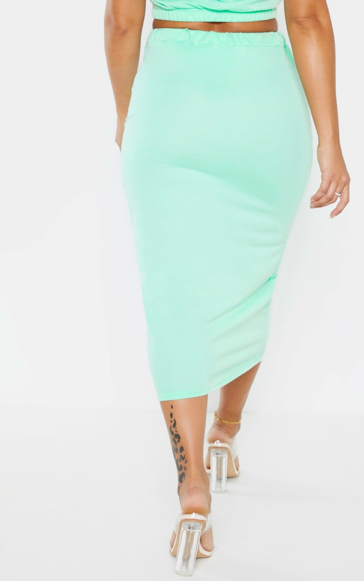 Shape Mint Sweat Drawstring Midi Skirt 3