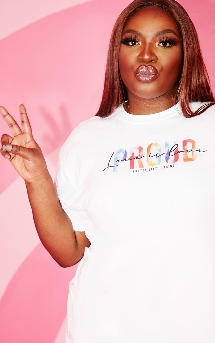 Plus White Love Is Love T Shirt 4