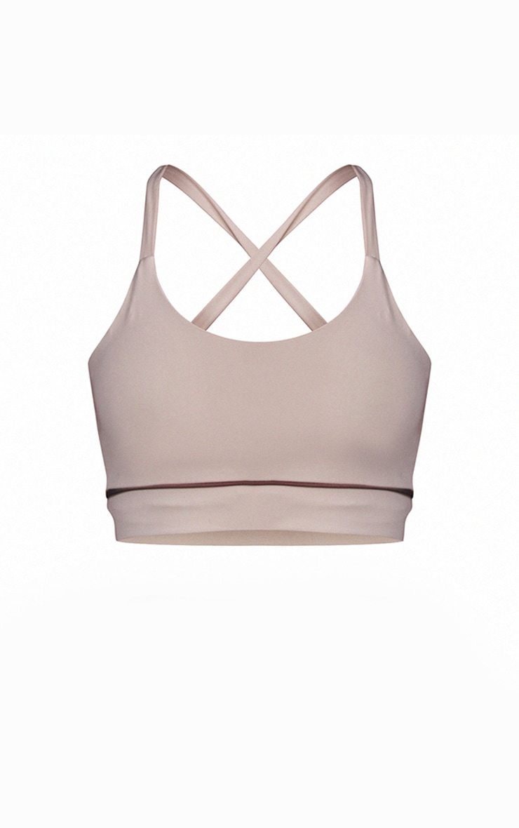 Sand Piping Detail Sports Bra 5