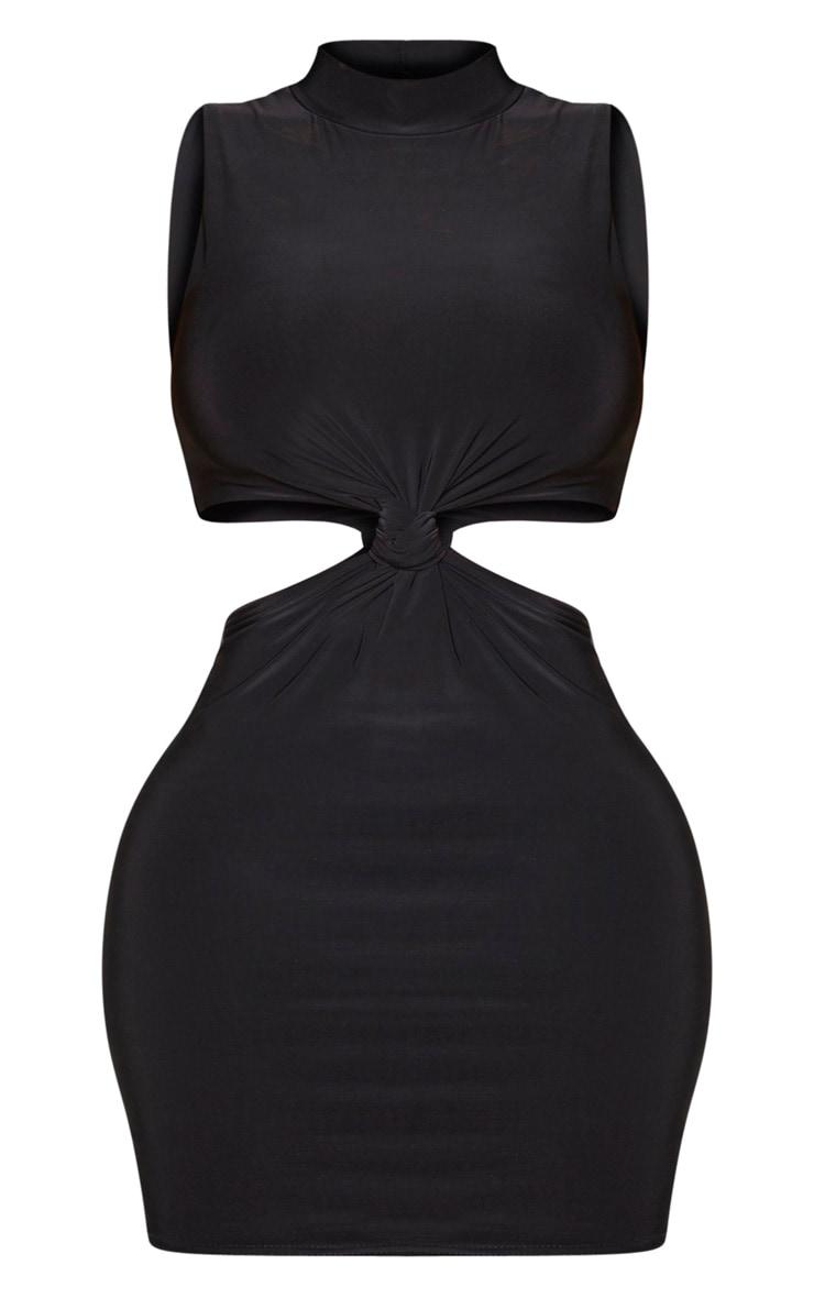 Shape Black Disco High Neck Cut Out Bodycon Dress 5