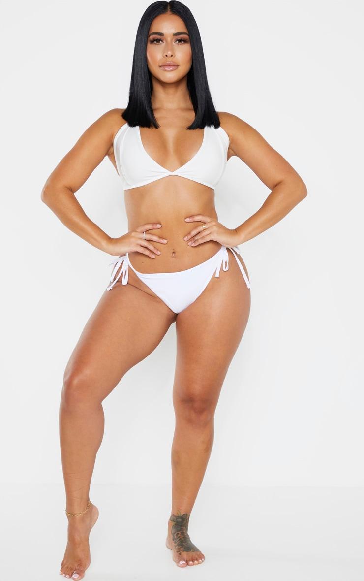 Shape White Triangle Bikini Top 3