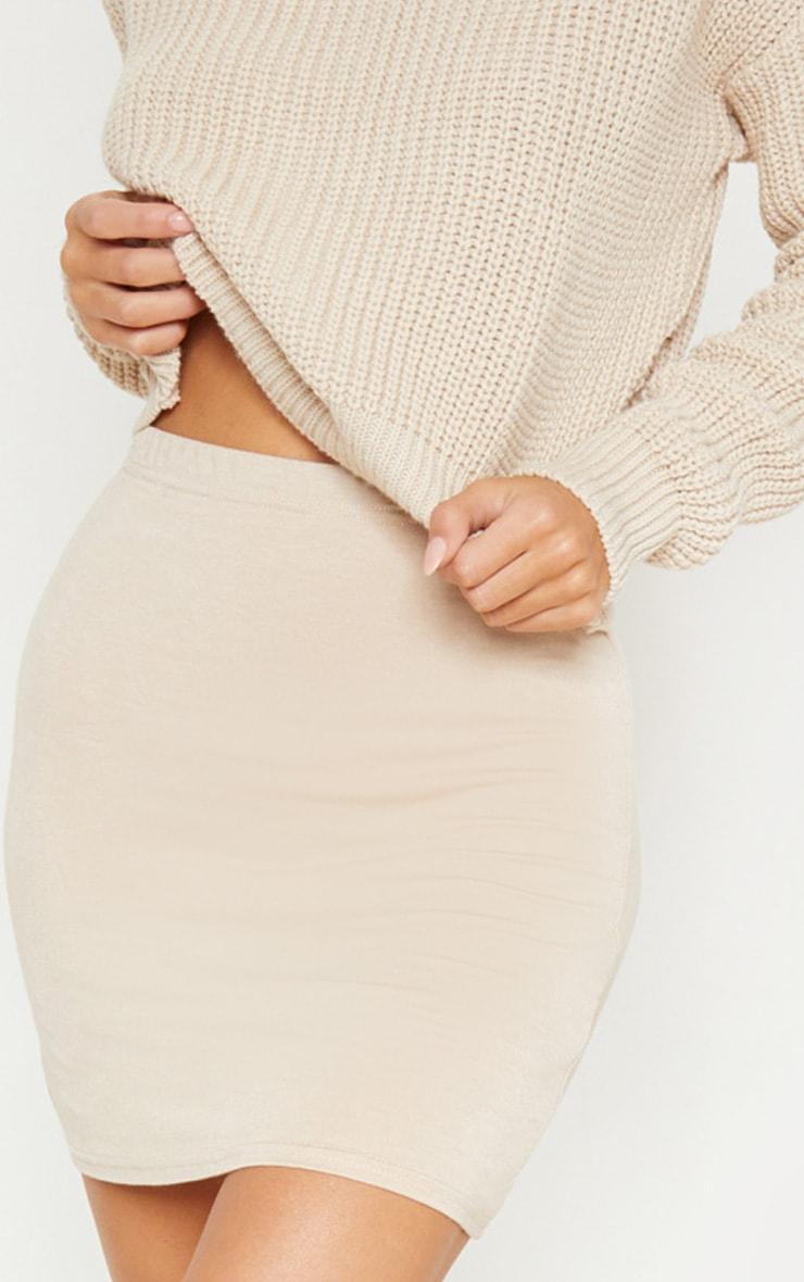Deep Stone Basic Jersey Mini Skirt 6