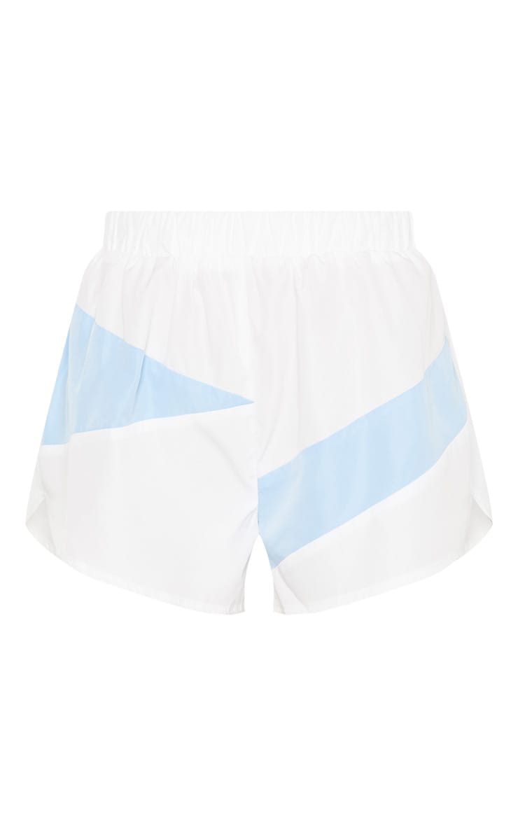 White Colour Block Shell Short 3