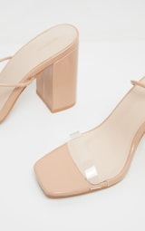 Nude Ankle Lace Up Chunky Block Heel Sandal 4