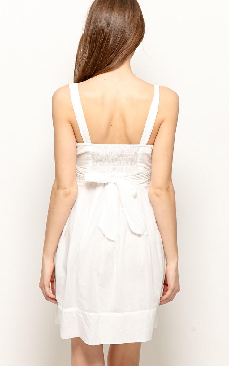 Sadie White Linen Dress 2