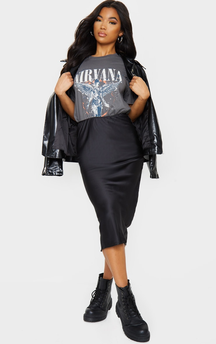 Grey Nirvana Wings Print T Shirt 3