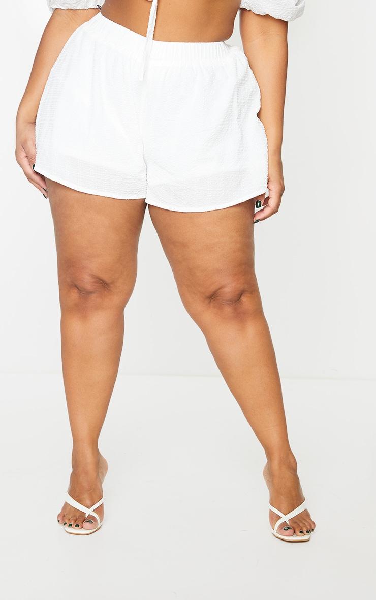 Plus White Floaty Beach Shorts 2