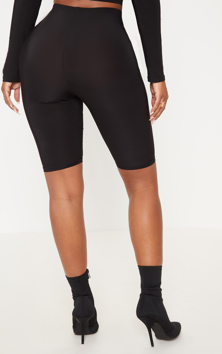 Shape Black Slinky High Waist Cycling Shorts 3