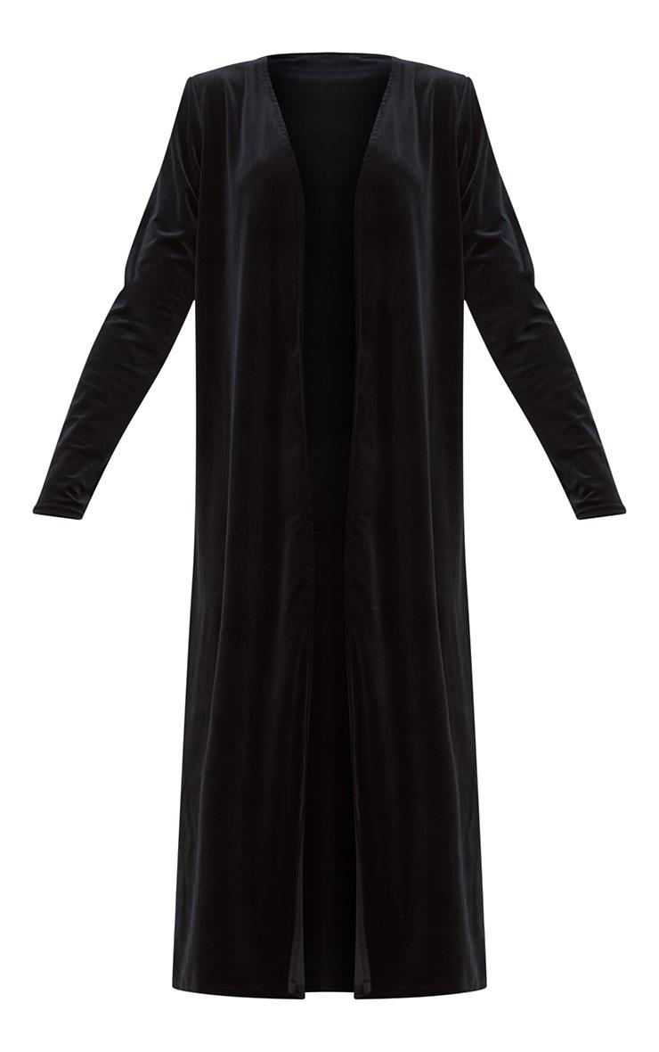 Black Velvet Longline Kimono 3