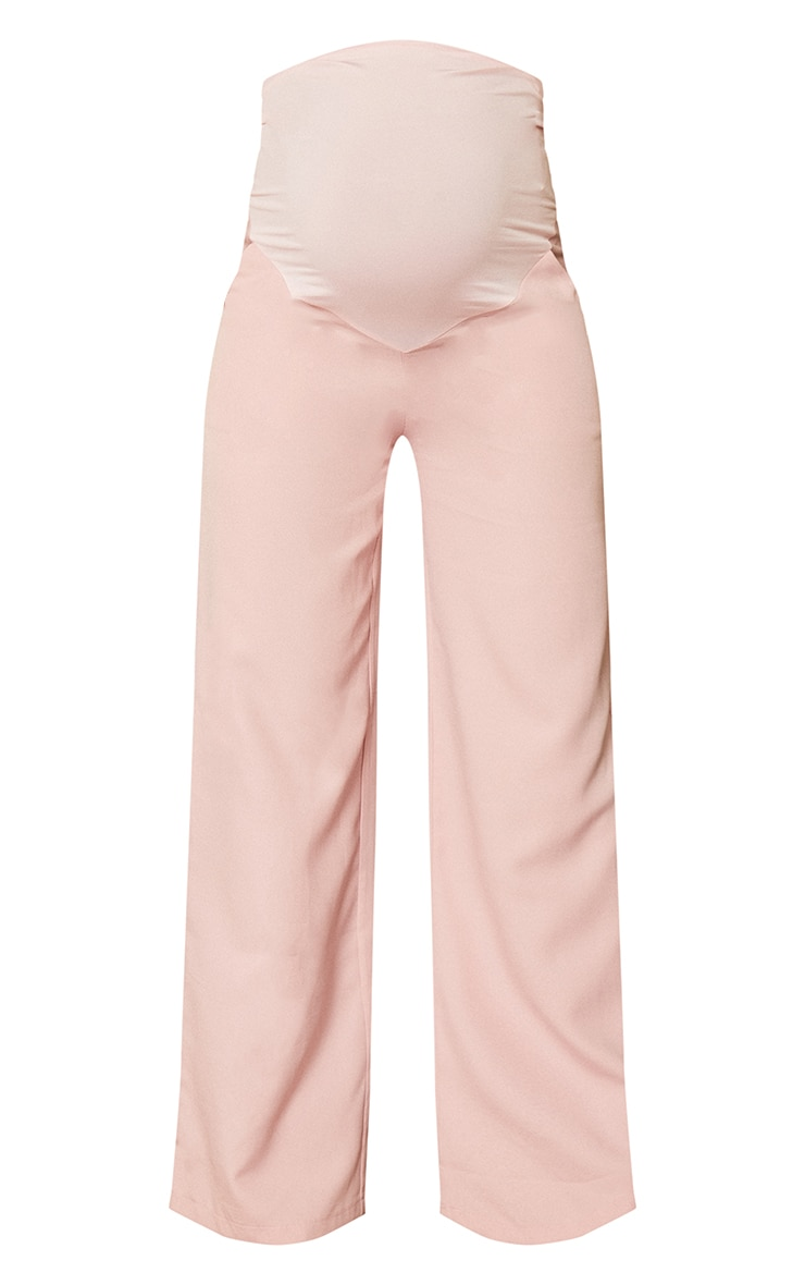 Maternity Mauve Belly Band Suit Pants 5