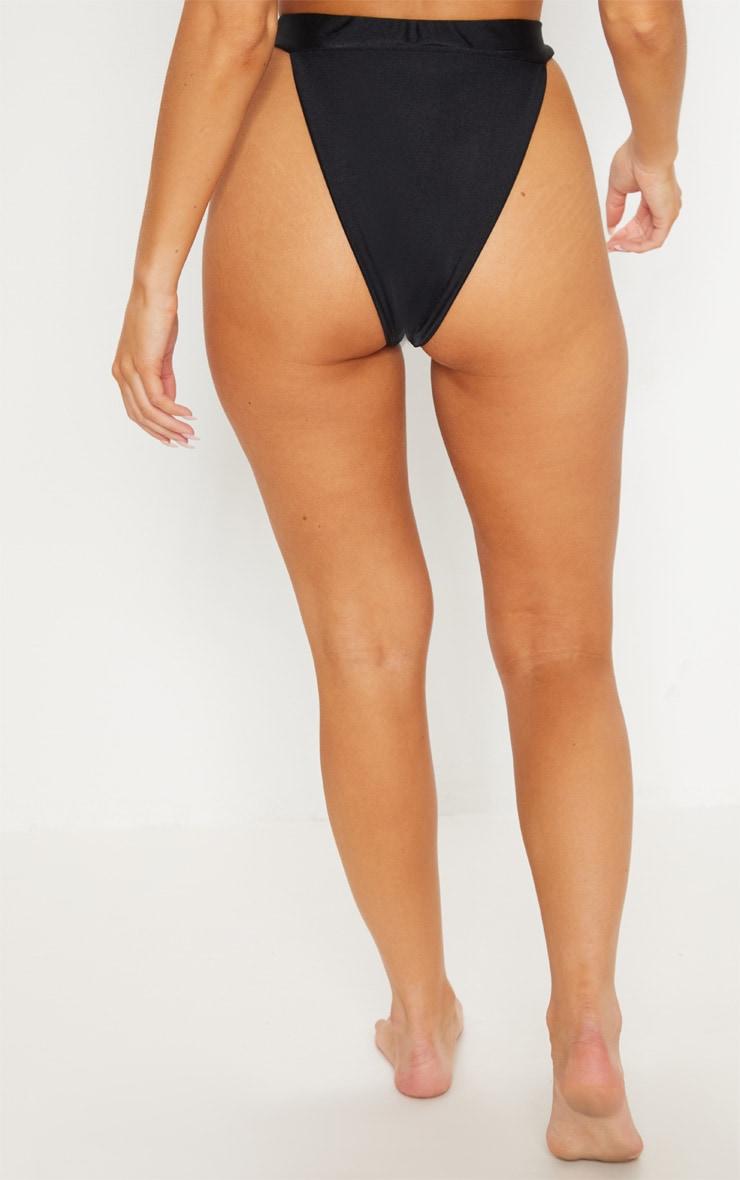 Black Mix & Match High Leg Bikini Bottom 4