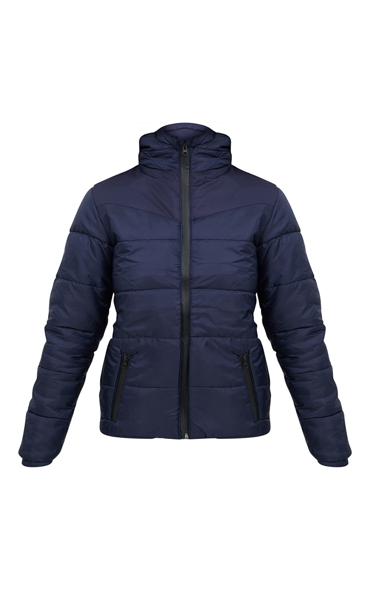 Navy Hooded Puffer Jacket 3