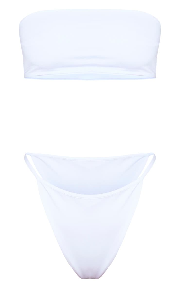 White  Mix & Match String Thong Bikini Bottom 6