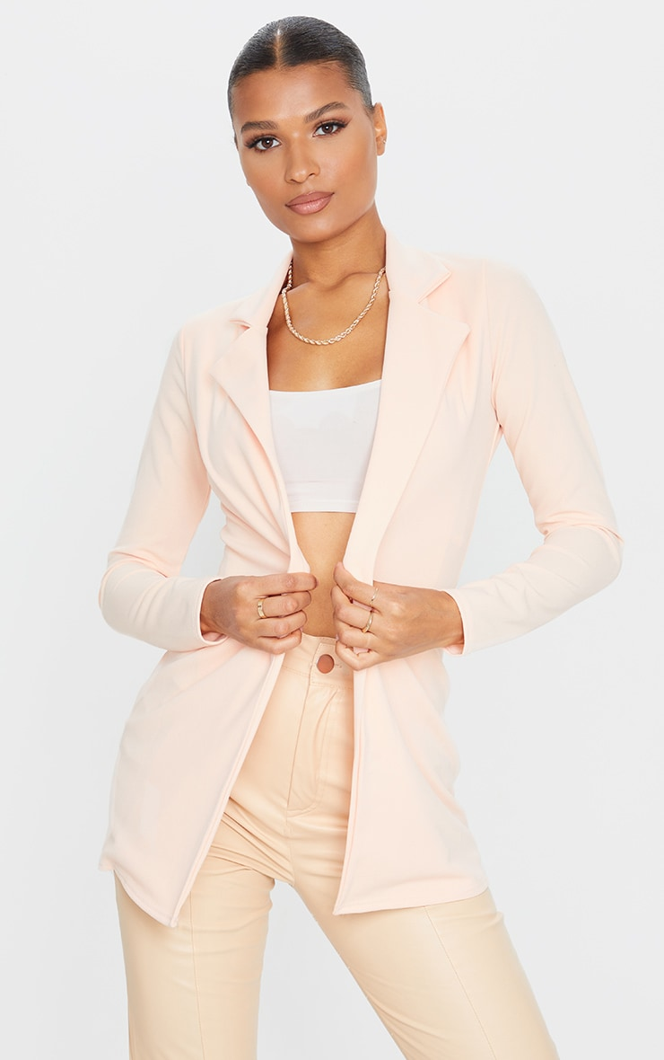 Blazer long nude 1