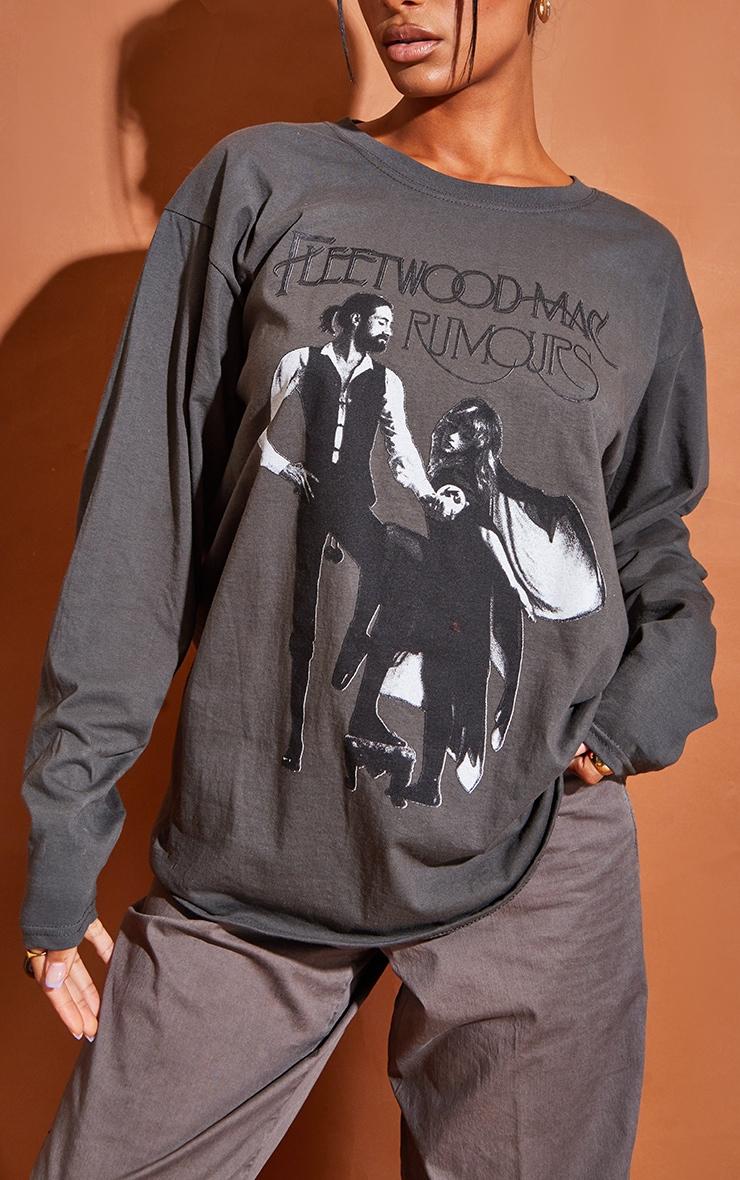Grey Fleetwood Mac Long Sleeve Grey T Shirt 4