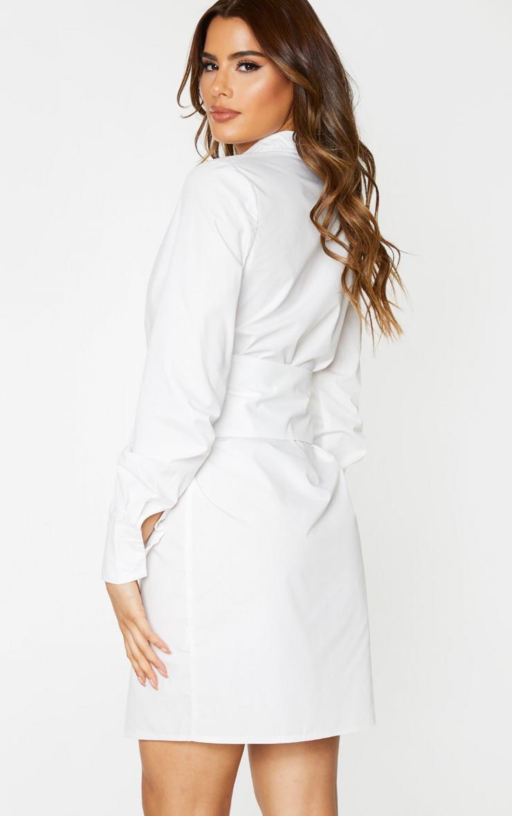 Tall White Wrap Detail Shirt Dress 2