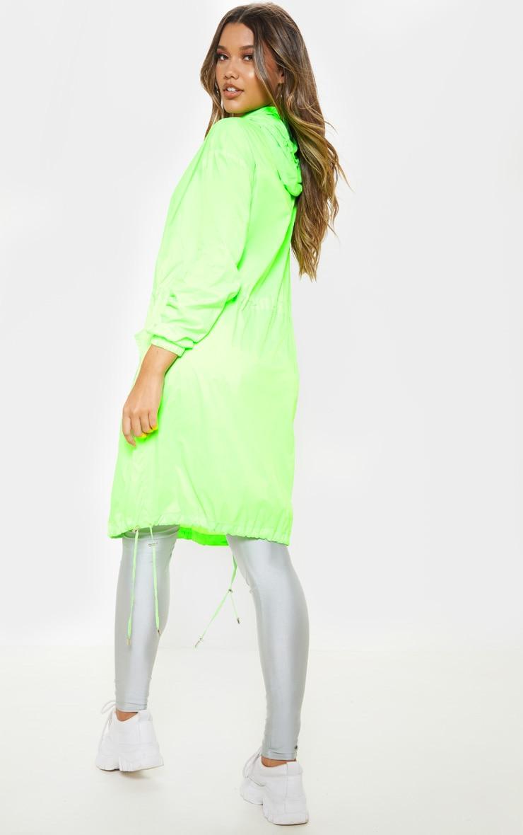 Lime Longline Rainmac  2