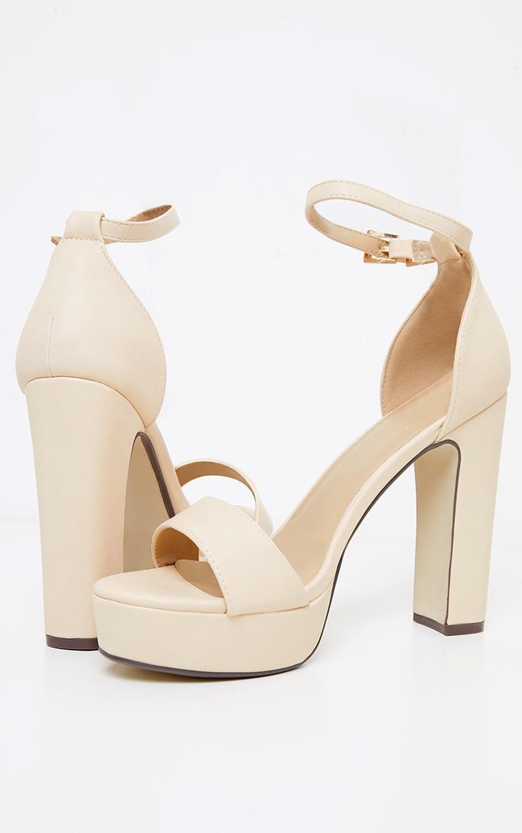 Taya Nude PU Platform Sandals 3
