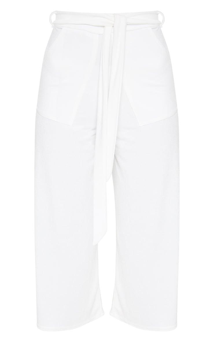 White Tie Waist Culotte 3