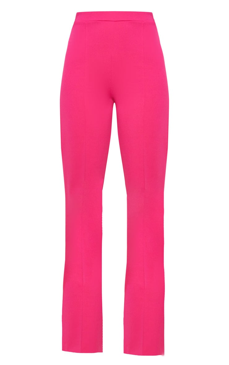 Pink Crepe Straight Leg Pants 3