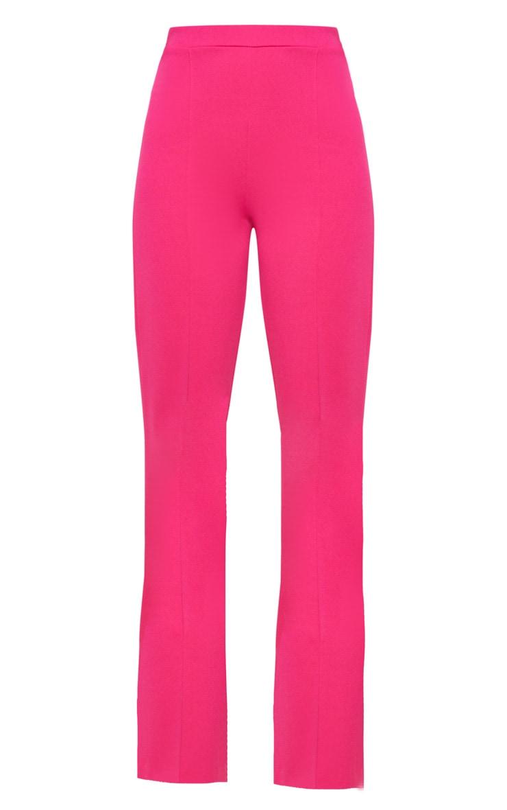 Pink Crepe Straight Leg Trouser 3