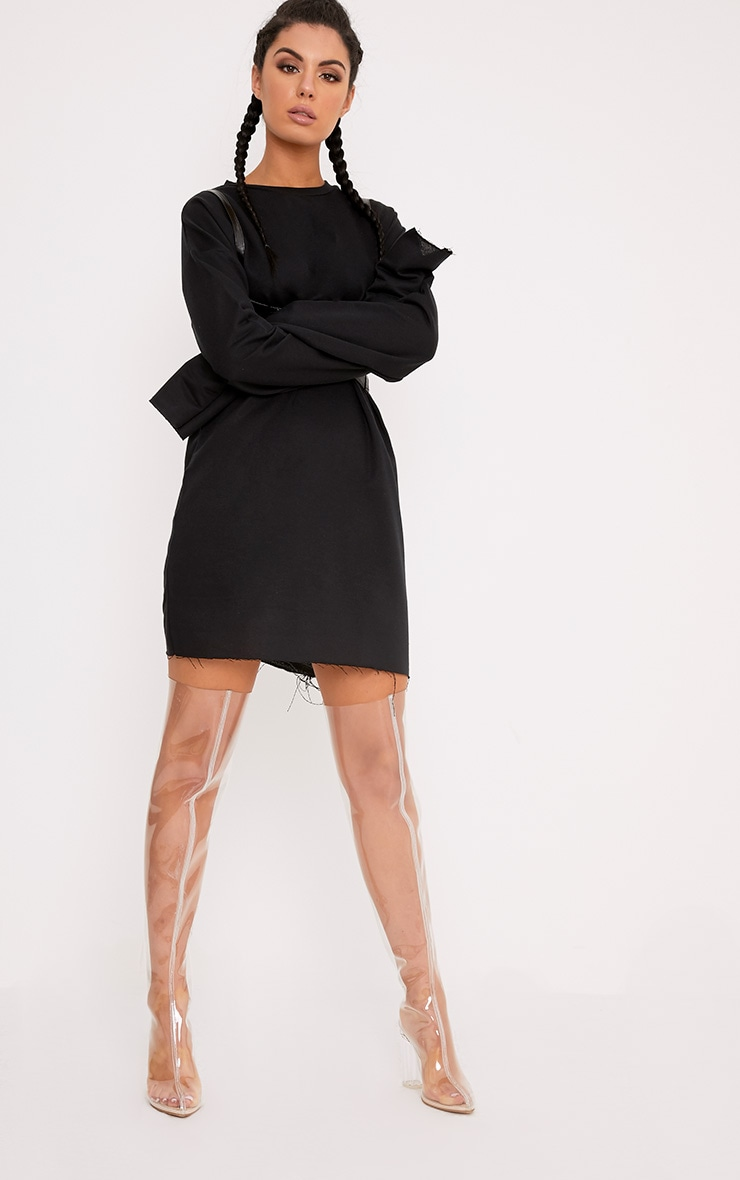 Breanna Black Extreme Long Sleeved  Sweater Dress 4