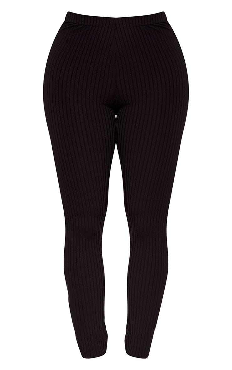 Shape Anusha Black Ribbed Leggings Co-ord 3
