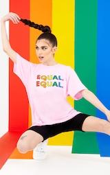UNISEX Pink EQUAL Oversized T-shirt 1