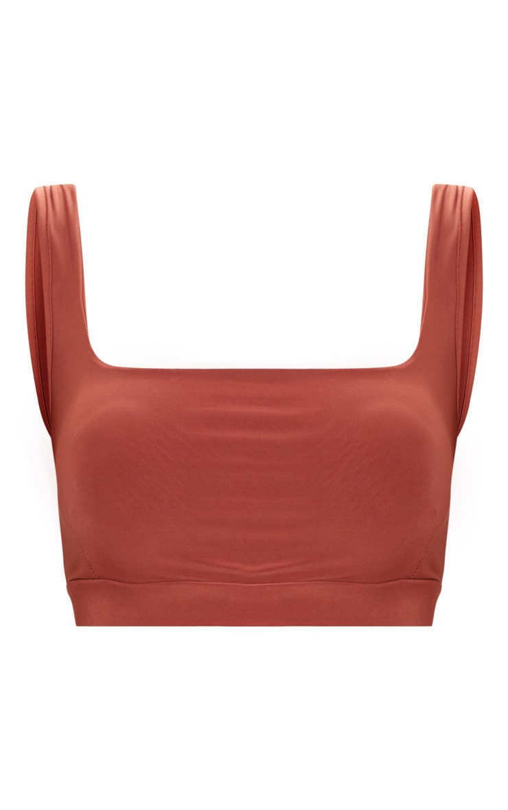 Spice Second Skin Slinky Square Neck Crop Top 3