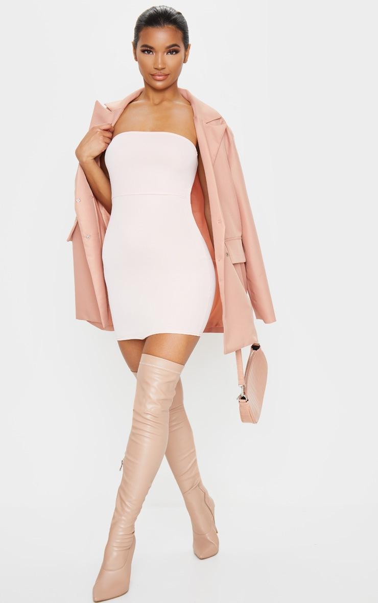 Rose Bandeau Pointy Hem Bodycon Dress 3