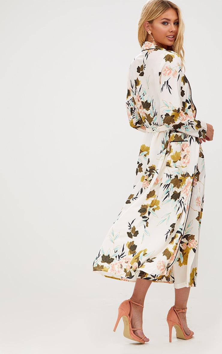 Cream Floral Maxi Kimono 2