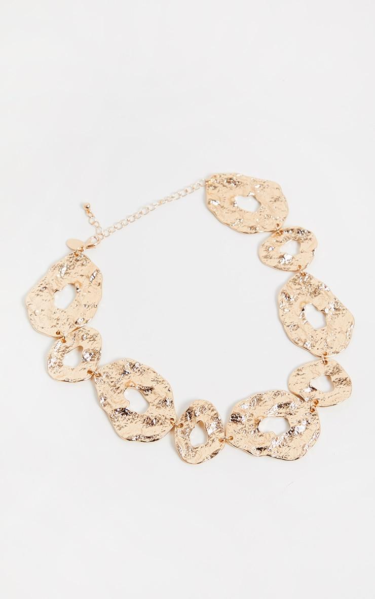 Gold Irregular Shape Necklace 2