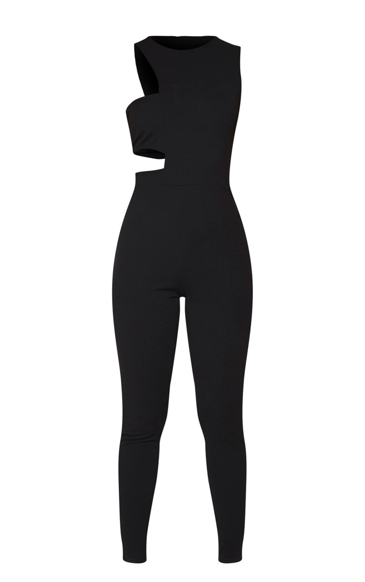 Black Asymmetric One Shoulder Jumpsuit 5