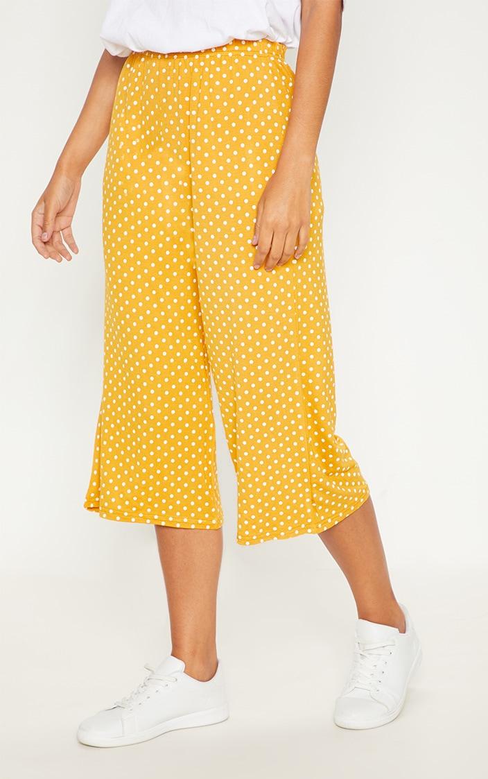 Mustard Polka Dot Culotte 2
