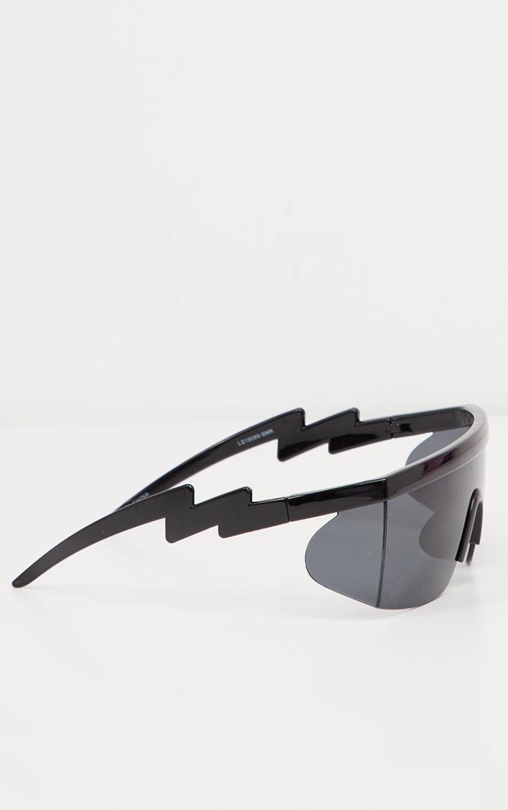 Black Futuristic Visor Sunglasses 4