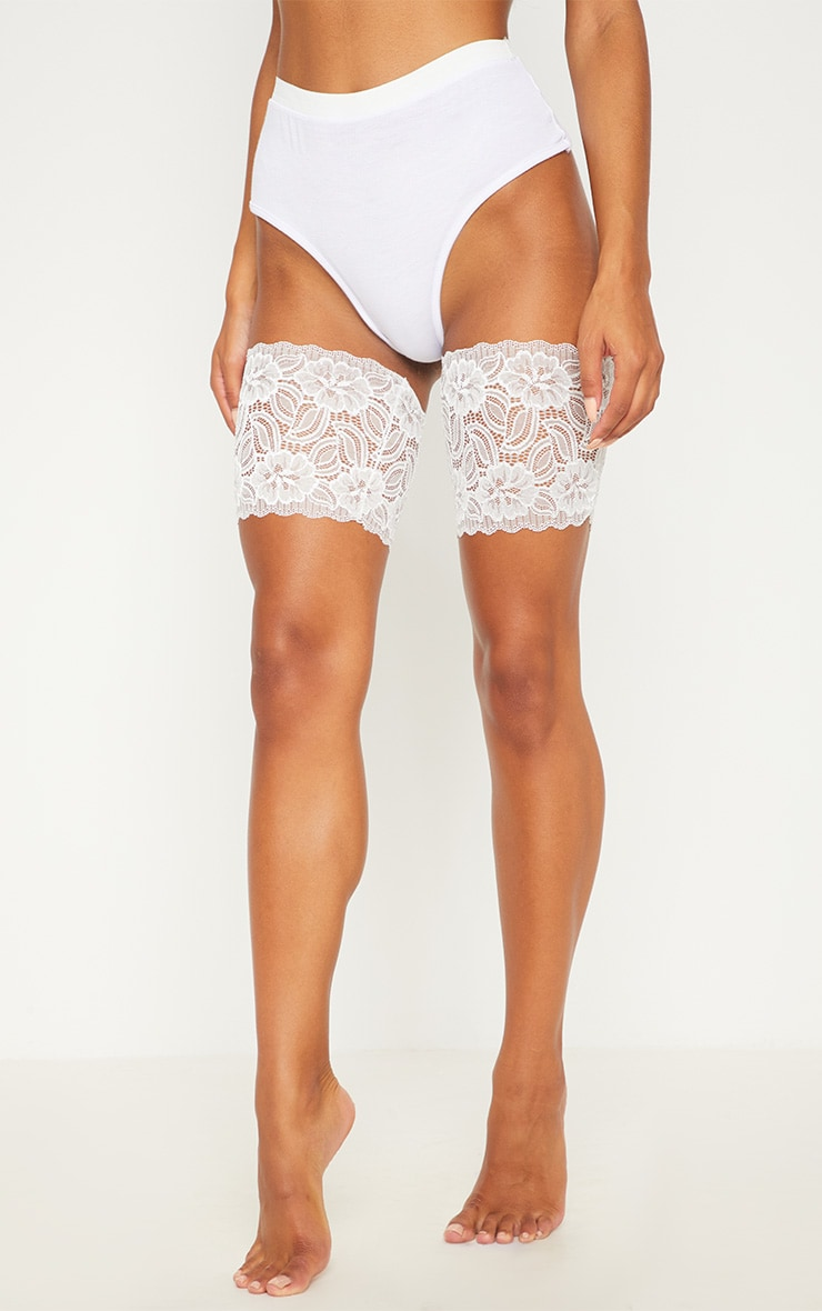White Lace Chafing Bands 2