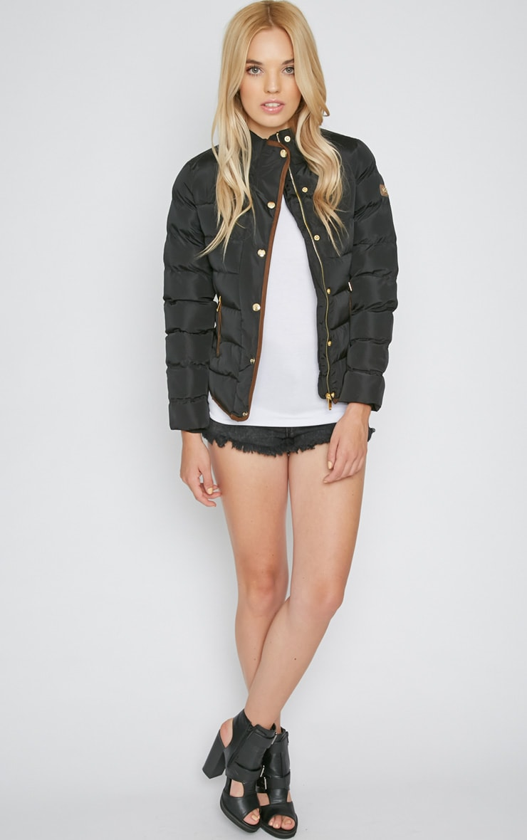 Jenny Black Quilted Jacket 4