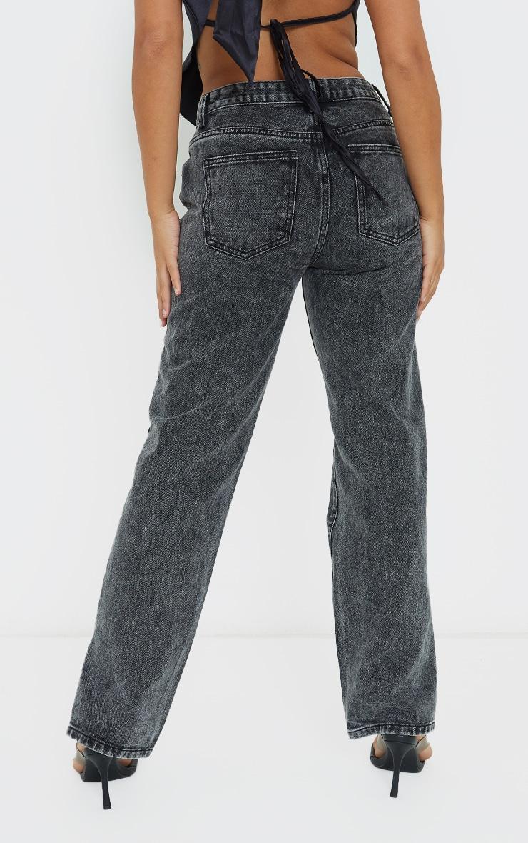 Petite Black  Low Rise Split Hem Jeans 3