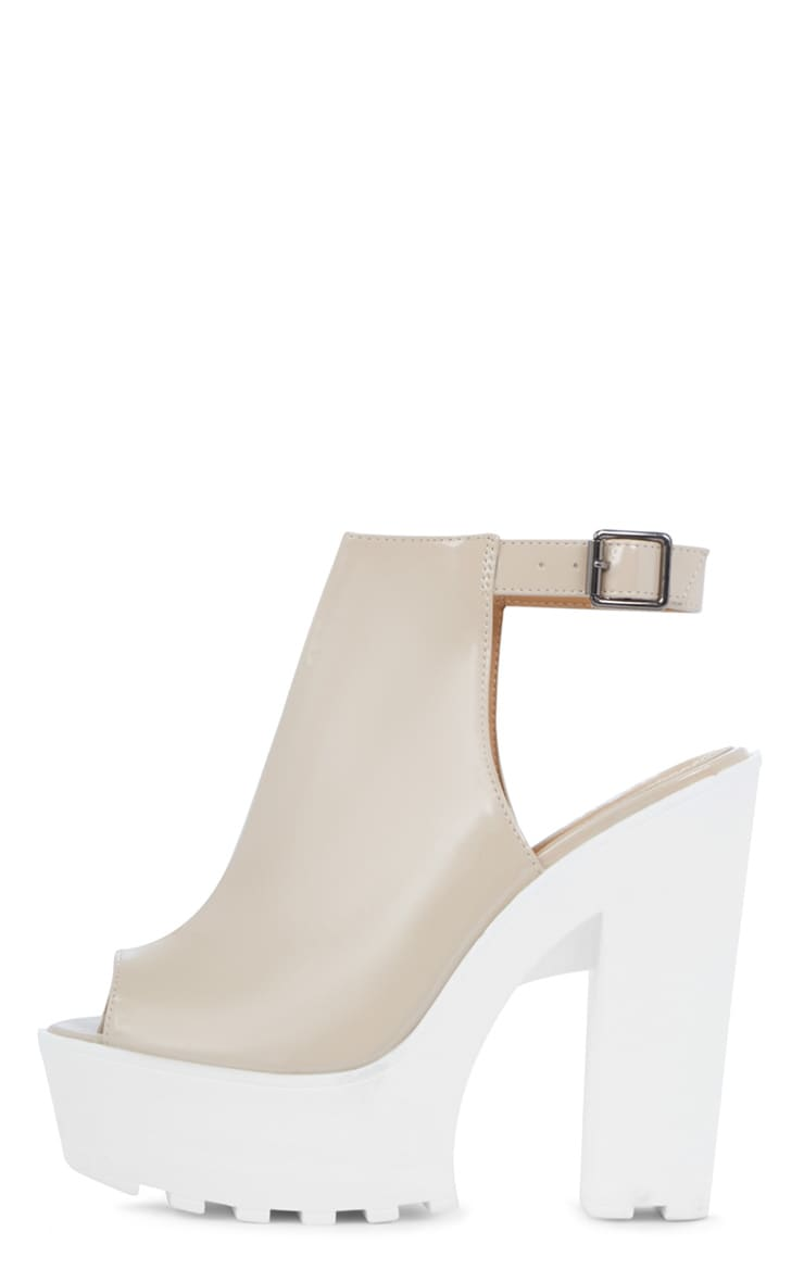Jessica Patent Nude Strap Platform Heels 1