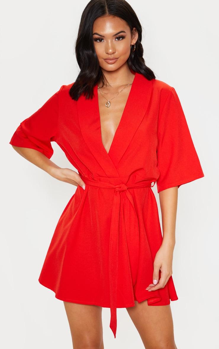 Red Tie Tea Dress 1
